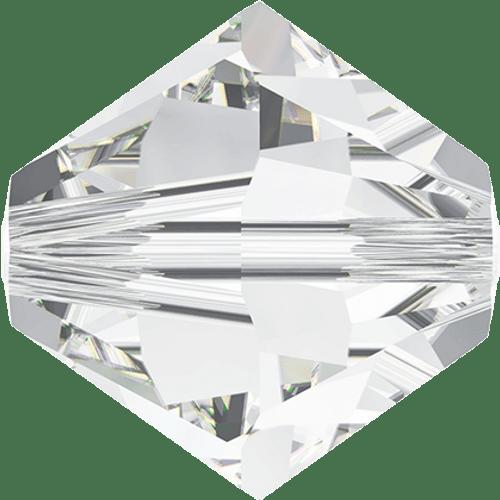 Swarovski 5328 10mm Xilion Bicone Beads Crystal   (6 pieces)