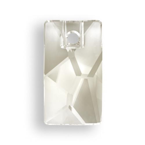 Swarovski 3500 9mm Pendular Beads Crystal Silver Shade