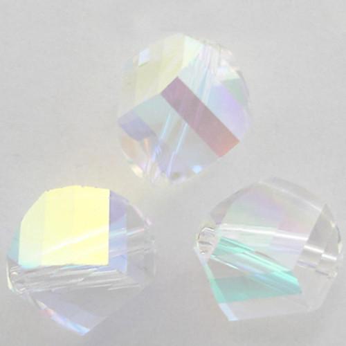 Swarovski 5020 10mm Helix Beads Crystal AB