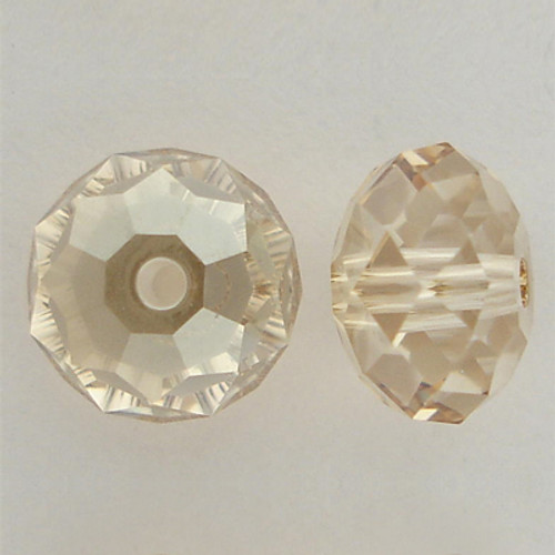 Swarovski 5040 12mm Rondelle Beads Crystal Golden Shadow