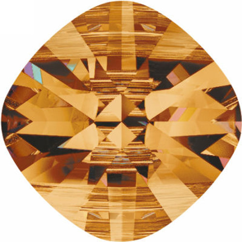Swarovski 5180 14mm Square Double Hole Beads Crystal Copper