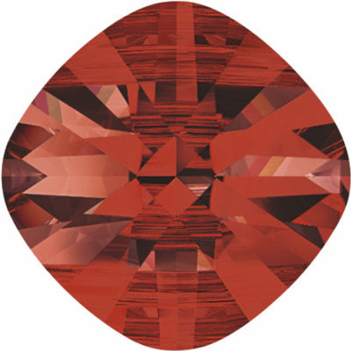 Swarovski 5180 14mm Square Double Hole Beads Crystal Red Magma