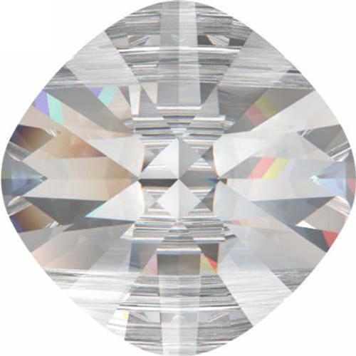 Swarovski 5180 14mm Square Double Hole Beads Peridot