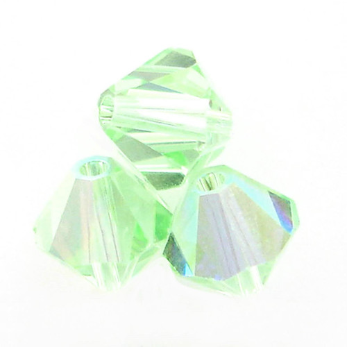 Swarovski 5328 4mm Xilion Bicone Beads Chrysolite AB   (72 pieces)