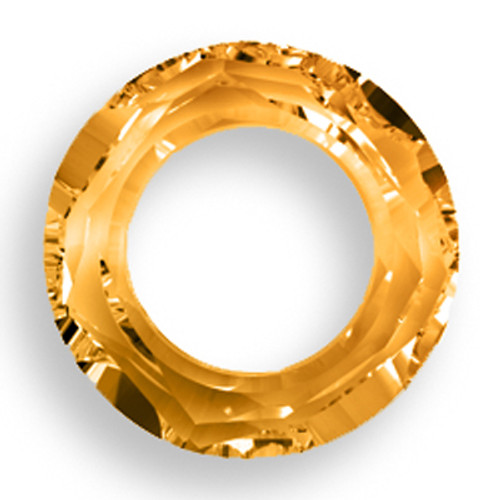 Swarovski 4139 20mm Round Ring Beads Crystal Copper