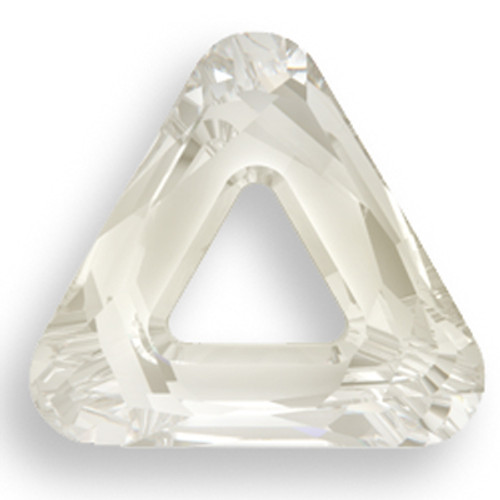Swarovski 4737 30mm Triangle Beads Crystal Silver Shade