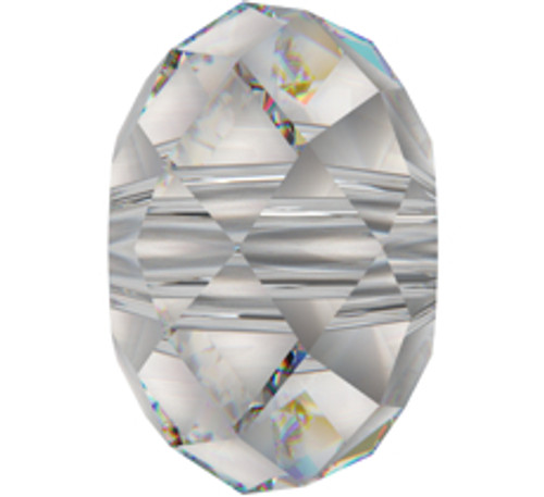 Swarovski 5041 18mm Rondelle Beads Large Hole Crystal Silver Shade