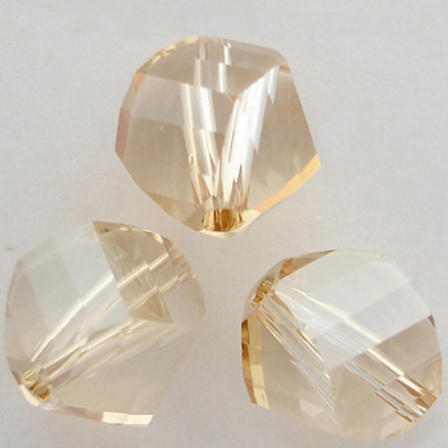Swarovski 5020 8mm Helix Beads Crystal Golden Shadow