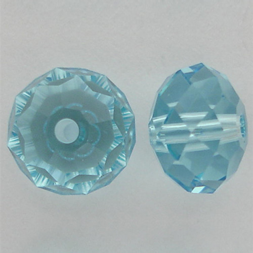 Swarovski 5040 8mm Rondelle Beads Aquamarine