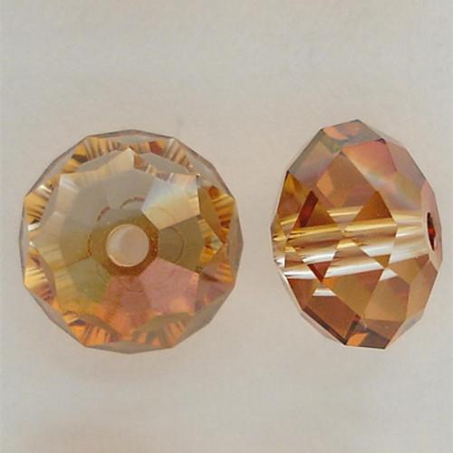 Swarovski 5040 8mm Rondelle Beads Crystal Copper