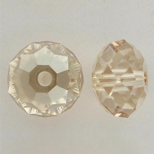 Swarovski 5040 8mm Rondelle Beads Crystal Golden Shadow