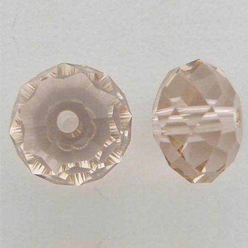 Swarovski 5040 8mm Rondelle Beads Vintage Rose