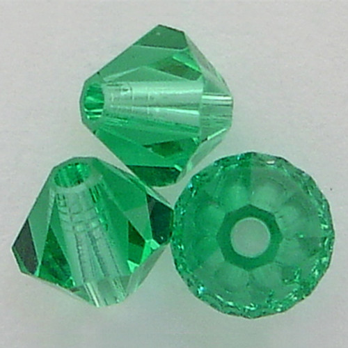 Swarovski 5301 8mm Bicone Beads Light Emerald