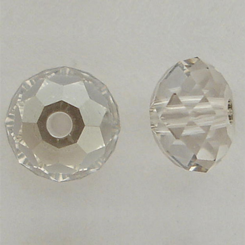 Swarovski 5040 6mm Rondelle Beads Crystal Silver Shade