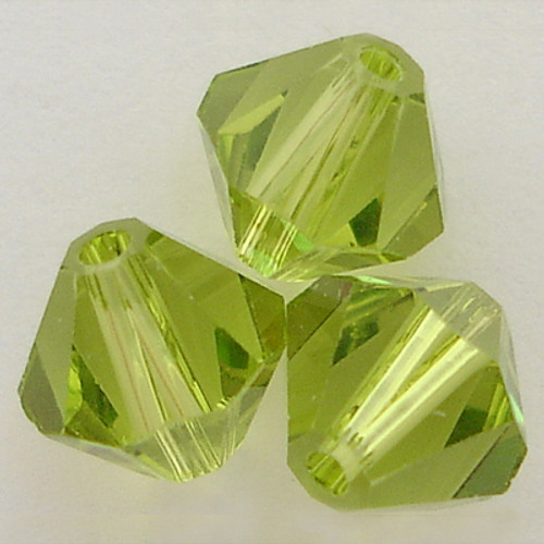 Swarovski 5328 6mm Xilion Bicone Beads Light Olivine
