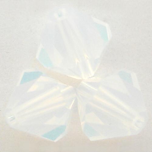 Swarovski 5328 6mm Xilion Bicone Beads White Opal