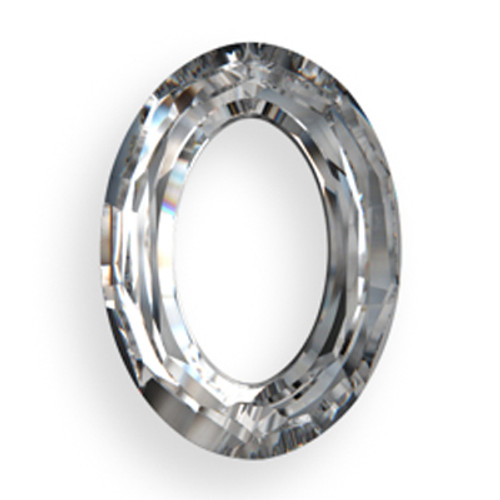 Swarovski 4137 15mm Oval Ring Beads x11 Crystal