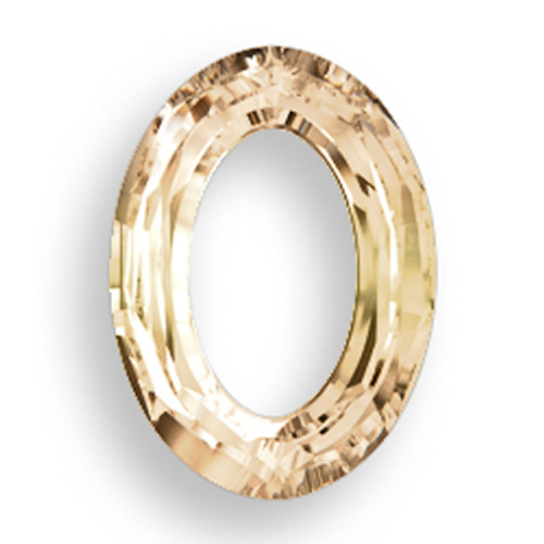 Swarovski 4137 33mm Oval Ring Beads Crystal Golden Shadow