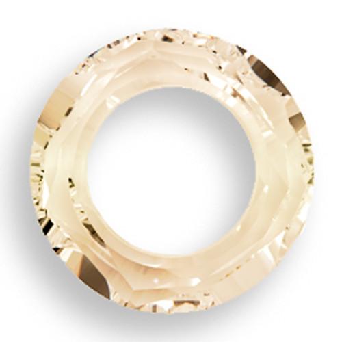 Swarovski 4139 14mm Round Ring Beads Crystal Golden Shadow