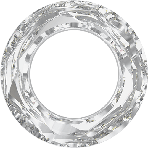 Swarovski 4139 14mm Round Ring Beads Crystal Silver Shade  CAL  (2 pieces)