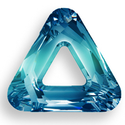 Swarovski 4737 14mm Triangle Beads Crystal Bermuda Blue
