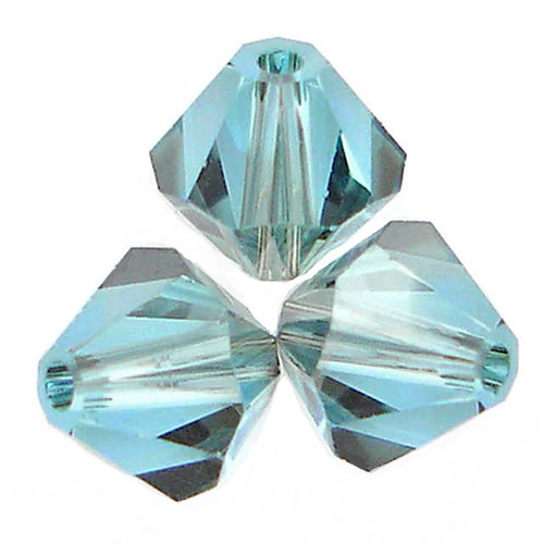 Swarovski 5328 4mm Xilion Bicone Beads Aquamarine Satin (1,440 pieces)