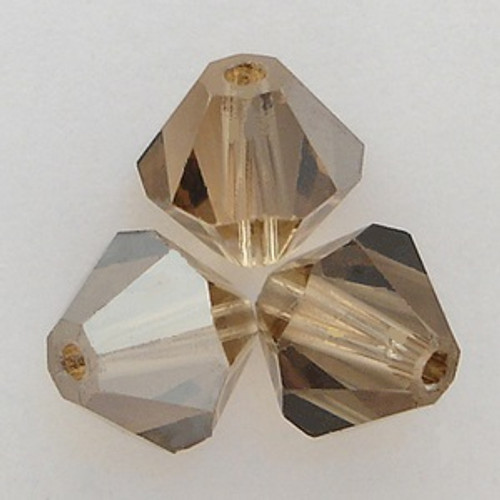 Swarovski 5328 4mm Bicone Beads Light Colorado Topaz Satin