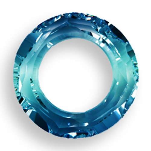 Swarovski 4139 14mm Round Ring Beads Crystal Bermuda Blue