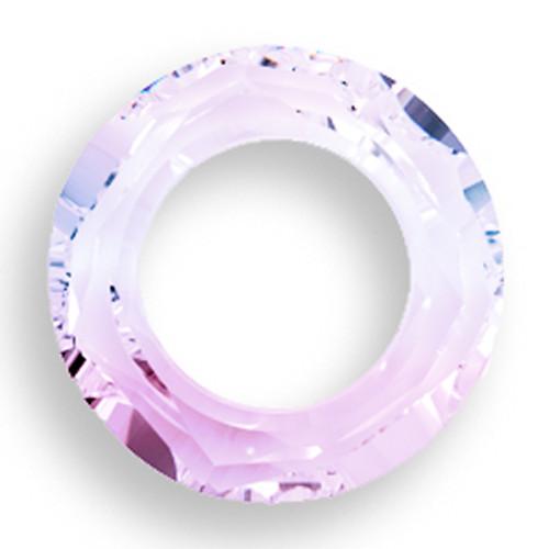 Swarovski 4139 14mm Round Ring Beads Crystal Vitrail Light