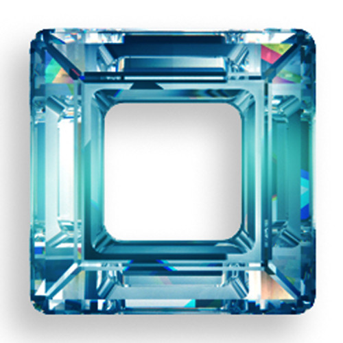 Swarovski 4439 14mm Square Beads Crystal Bermuda Blue