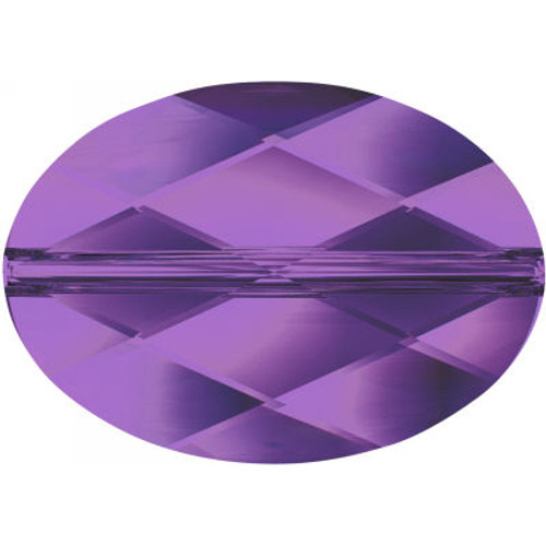Swarovski 5050 14mm Oval Beads Amethyst