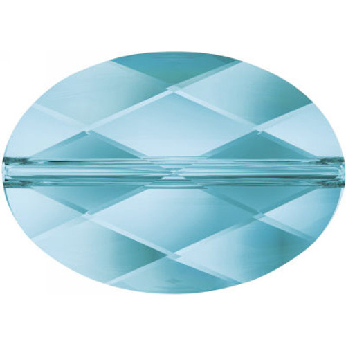 Swarovski 5050 14mm Oval Beads Aquamarine
