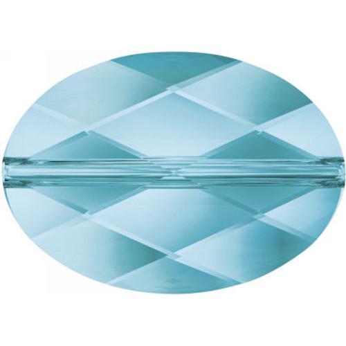 Swarovski 5050 14mm Oval Beads Aquamarine
