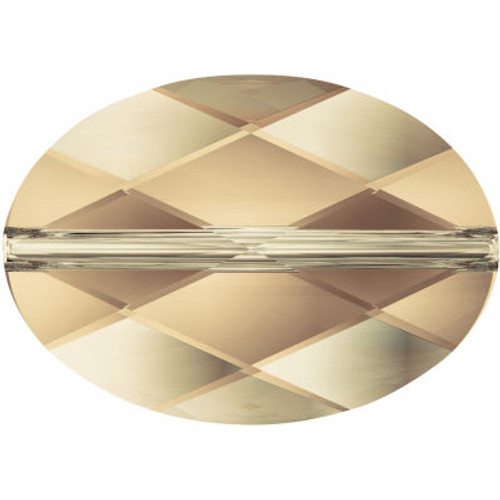 Swarovski 5050 14mm Oval Beads Crystal Golden Shadow