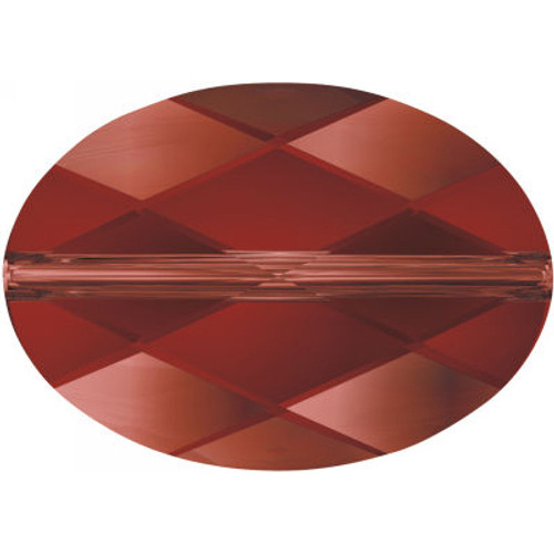 Swarovski 5050 14mm Oval Beads Crystal Red Magma