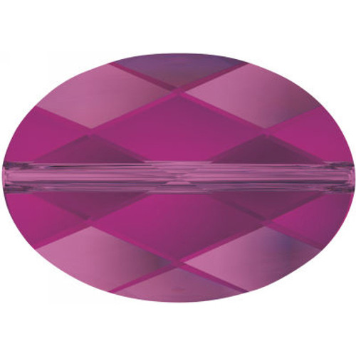 Swarovski 5050 14mm Oval Beads Fuchsia