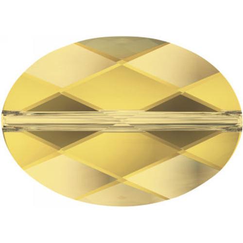 Swarovski 5050 14mm Oval Beads Light Topaz