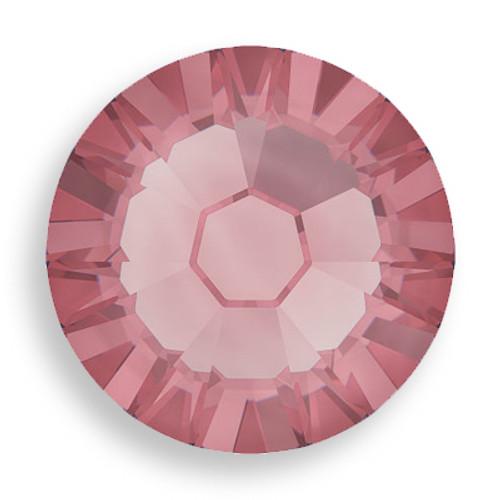 Swarovski 2028 6ss(~1.95mm) Xilion Flatback Crystal Antique Pink  Hot Fix