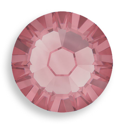 Swarovski 2028 8ss(~2.45mm) Xilion Flatback Crystal Antique Pink  Hot Fix
