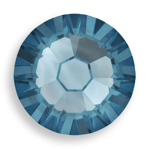 Swarovski 2028 6ss(~1.95mm) Xilion Flatback Denim Blue   Hot Fix