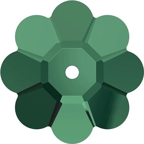 Swarovski 3700 10mm Marguerite Beads Emerald