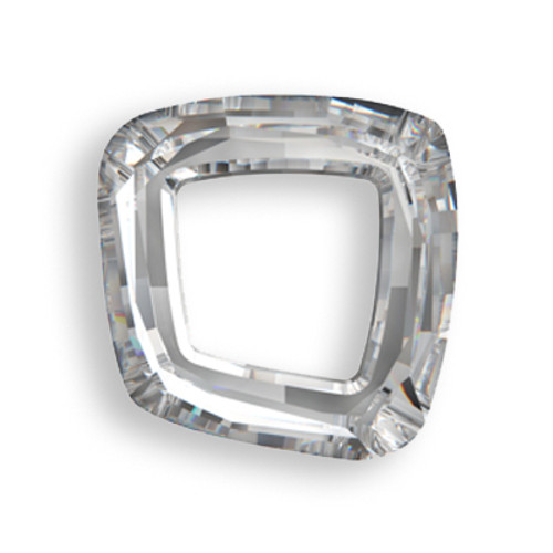 Swarovski 4437 14mm Cosmic Square Ring Beads Crystal Silver Shade