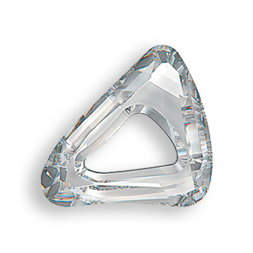 Swarovski 4736 30mm Organic Cosmic Triangle Beads Crystal