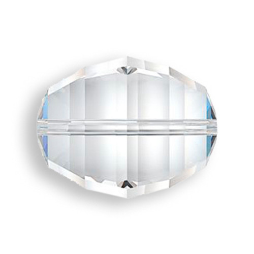 Swarovski 5030 18mm Lucerna Beads Crystal Silver Shade