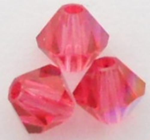 Swarovski 5301 3mm Bicone Beads Indian Pink