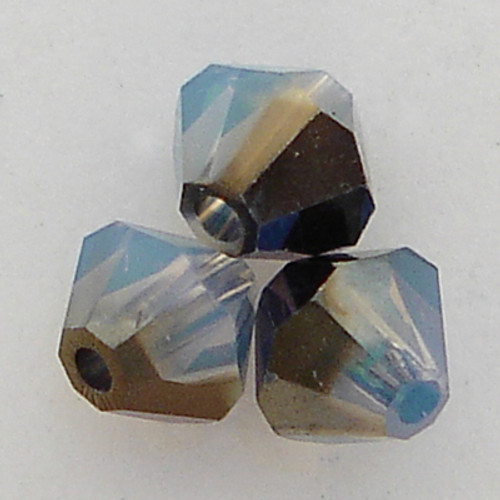 Swarovski 5301 4mm Bicone Beads White Opal Sky Blue