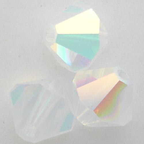 Swarovski 5328 3mm Xilion Bicone Beads White Opal AB