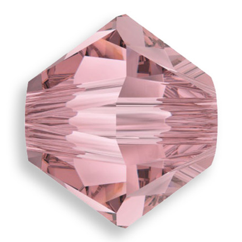 Swarovski 5328 4mm Xilion Bicone Beads Crystal Antique Pink