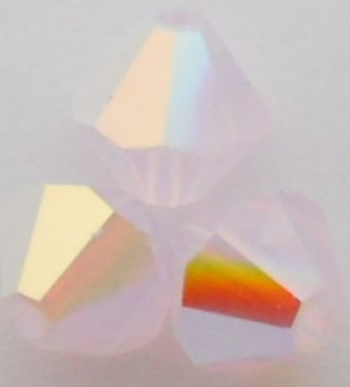 Swarovski 5328 4mm Xilion Bicone Beads Rose Water Opal AB 2X