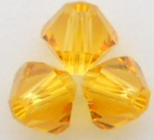 Swarovski 5328 4mm Xilion Bicone Beads Sunflower